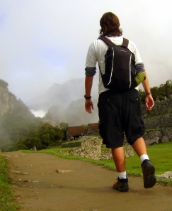 Eu, durante a Volta ao Mundo, em Machu Picchu