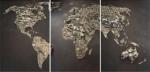 Mapa-múndi por Vik Muniz