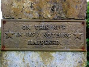 Nesse local, em 1897, nada aconteceu!