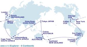 oneworld Explorer 6 continentes