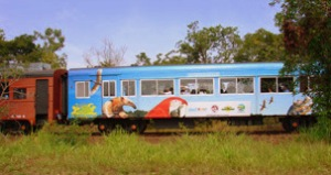Trem turístico do Pantanal