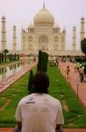 Mochileiro no Taj Mahal