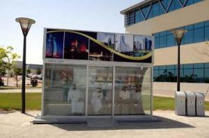 Ponto de ônibus em Dubai
